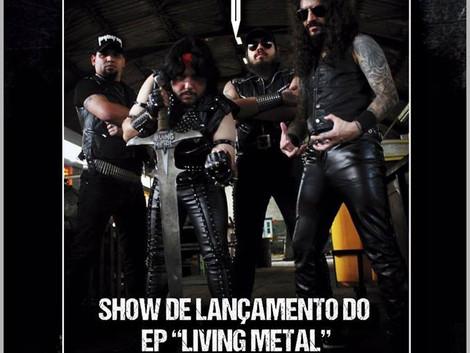 Show de lançamento do EP da banda Living Metal no Espaço Som