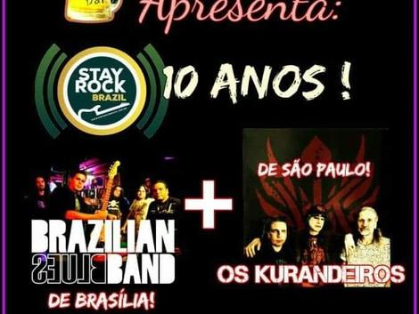 'Esquenta do Stay Rock Fest' no Santa Sede Rock Bar com Brazilian Blues Band e Os Kurandeiro
