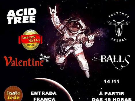Festa de aniversario - 14/11 no Santa Sede Rock Bar