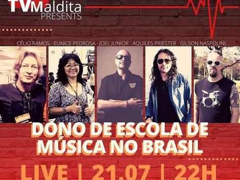 Nesta terça feira uma importante Live reunindo grandes nomes de donos de escola no canal TVmaldita
