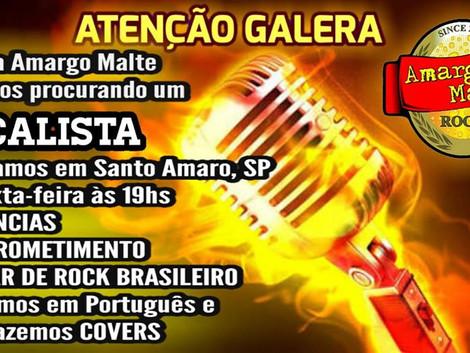 Banda Amargo Malte procura vocalista