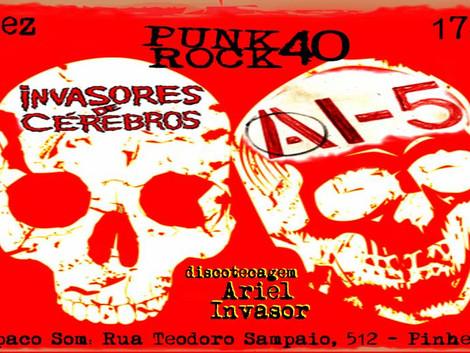 Punk Rock 40 no Espaço Som