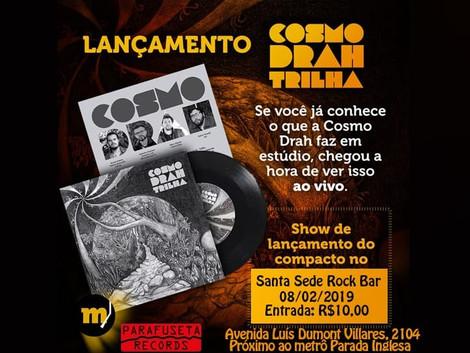 Santa Sede Rock Bar recebe show da banda Cosmo Drah