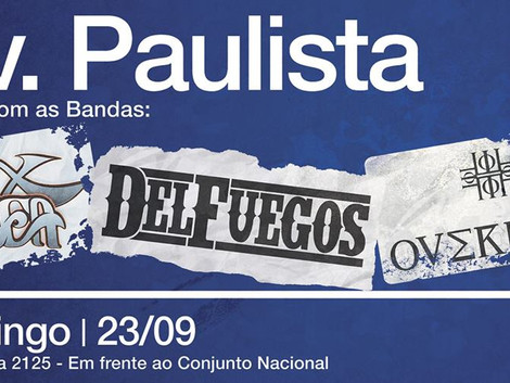Tarde de Rock na Avenida Paulista com as bandas Vox ignea, Del Fuegos e OverMist