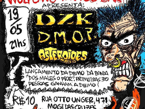 DZK, Asteroides Trio e Dos Males o Pior em Mogi das Cruzes