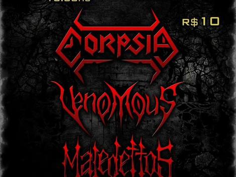 Estúdio 785 organiza 'Pocket Fest' com as bandas Corpsia, Venomous e Maledettos
