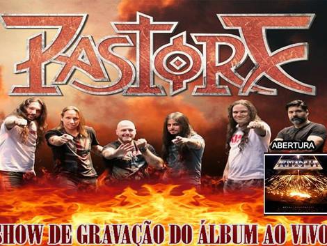 Show de gravação do disco ao vivo da banda Pastore no Espaço Som