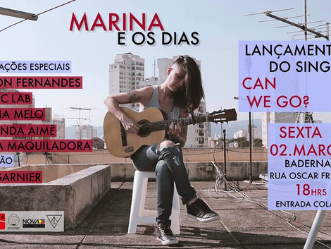 Show de lançamento do single de Marina e Os Dias no Baderna Bar