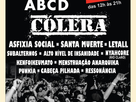 Cólera e Asfixia Social são destaques do Festival LADO PUNK ABCD 2018