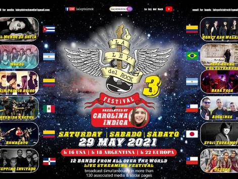 """3ª edição do """"La Ley del Rock Festival"""" acontece neste final de semana"""