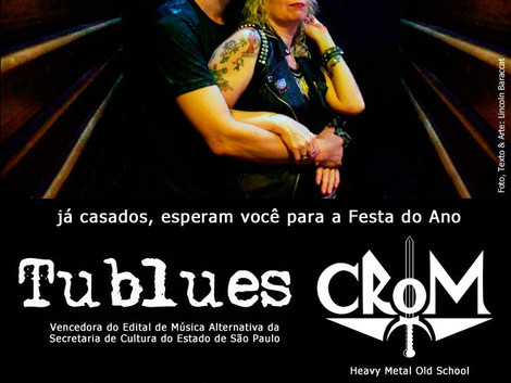 Santa Sede Rock Bar recebe shows das bandas Tublues e Crom