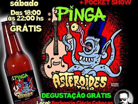 Lançamento da pinga da banda Asteróides Trio no Jardim Paulista