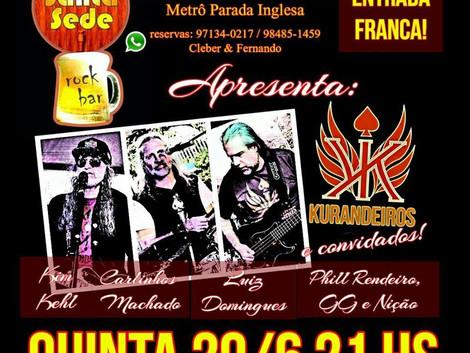 Santa Sede Rock Bar recebe show da banda Os Kurandeiros