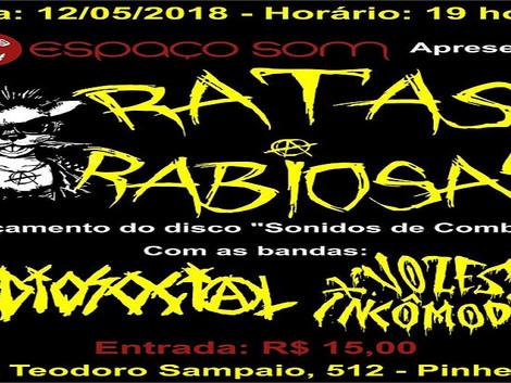 Show de lançamento do álbum 'Sonidos de Combate' da banda Ratas Rabiosas
