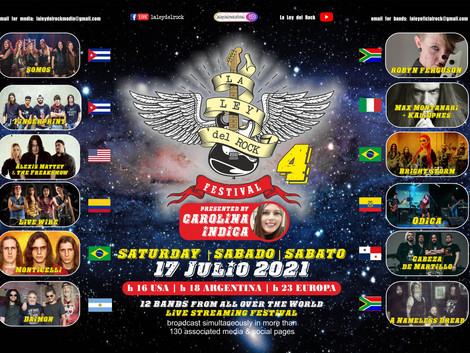 """4ª edição do """"La Ley del Rock Festival"""" acontece neste final de semana"""