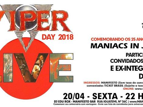 4ª edição do Viper Day celebrará os 25 anos do álbum Maniacs in Japan