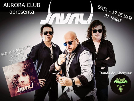 Show de lançamento do novo CD da banda Javali no Aurora Club