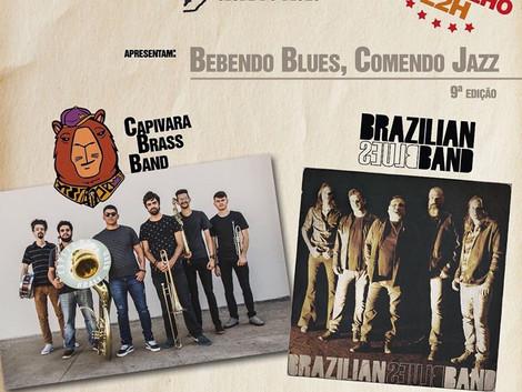 Projeto Bebendo Blues, Comendo Jazz com Capivara Brass Band e Brazilian Blues band