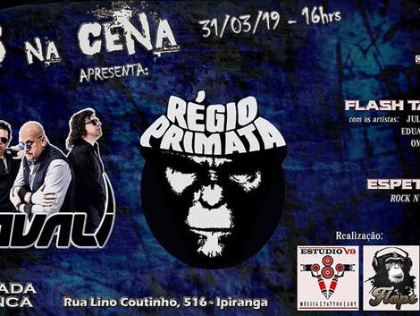 V8 na Cena! com as bandas Régio Primata e Javali