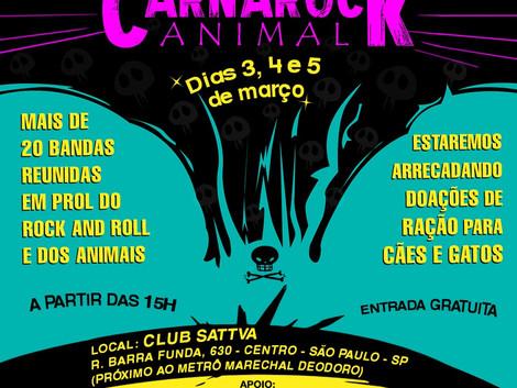 CarnaRock Animal: bandas unidas em prol do Rock 'N Roll e dos animais