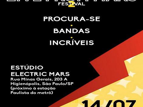Electric Mars convoca bandas para participar de festival
