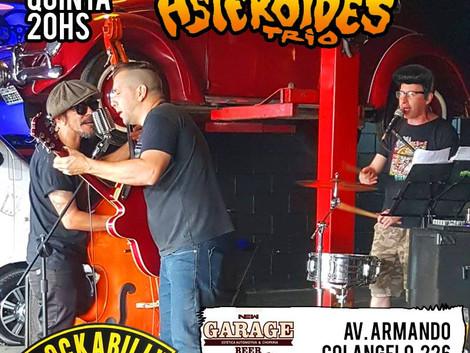 Arujá recebe show do Asteroides Trio no Garage Beer