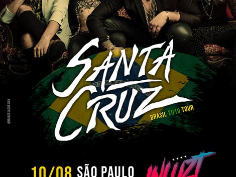 Sensação do hard rock finlandês, Santa Cruz confirma show em São Paulo