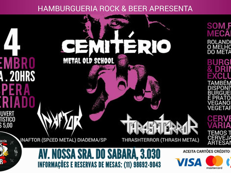Noite de Metal na Hamburgueria Rock & Beer