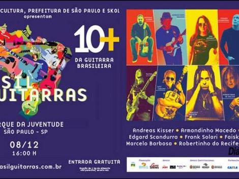 Os maiores guitarristas em shows gratuitos no Parque da Juventude.