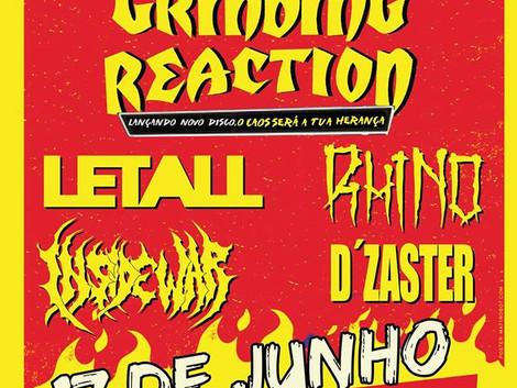 Show de lançamento do novo álbum do Grinding Reaction em Diadema