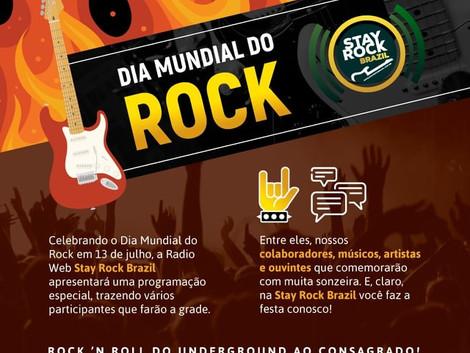 Programação especial no dia do rock na Radio Web Stay Rock Brazil