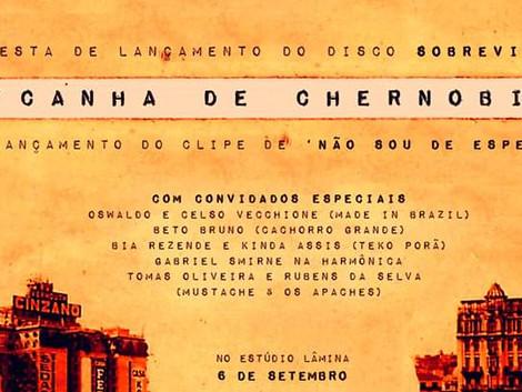 Show de lançamento do novo disco e vídeo clipe da banda Picanha de Chernobill no Estúdio Lâmina