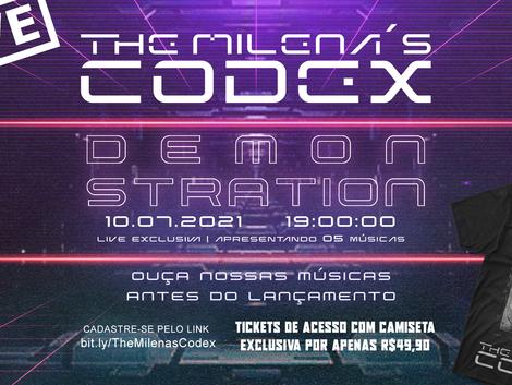 Saiba como ouvir as primeiras músicas do The Milena's Codex com exclusividade