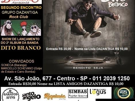 Bar Brahma recebe show de lançamento do novo disco da banda Dito Branco