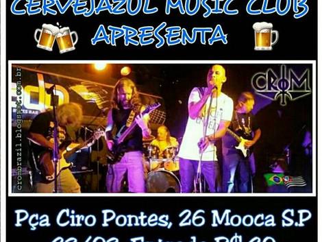 Banda Crom no Cerveja Azul Music Club