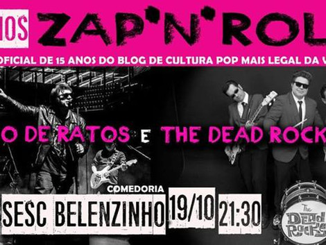 Sesc Belenzinho recebe show das bandas Saco de Ratos e Dead Rocks