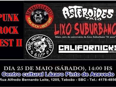 Segunda edição do Punk Rock Fest no Centro Cultural do Taboão