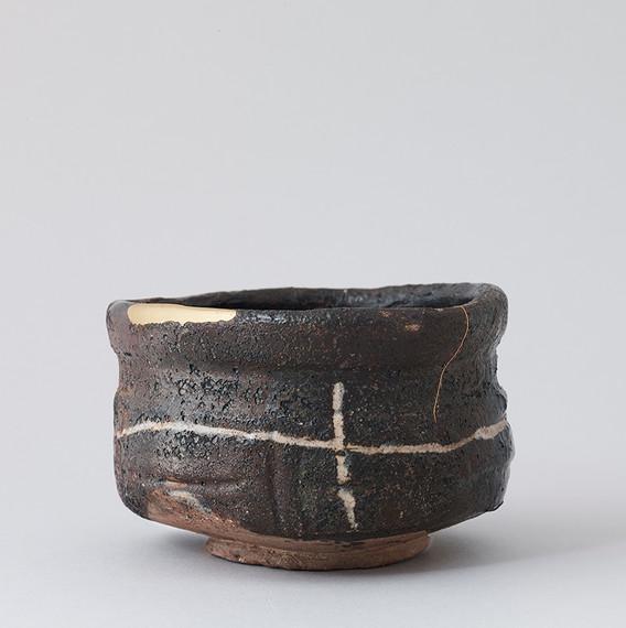 Black Oribe Tea Bowl Back