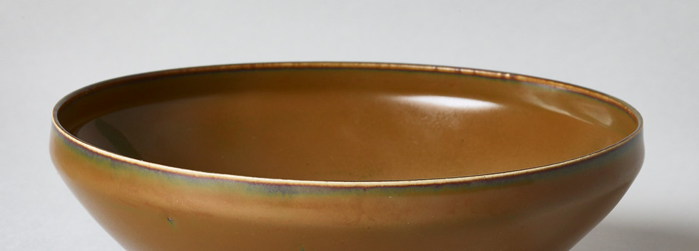 Persimmon Glazed Ding-Type Bowl - Dangyangyu Kilns