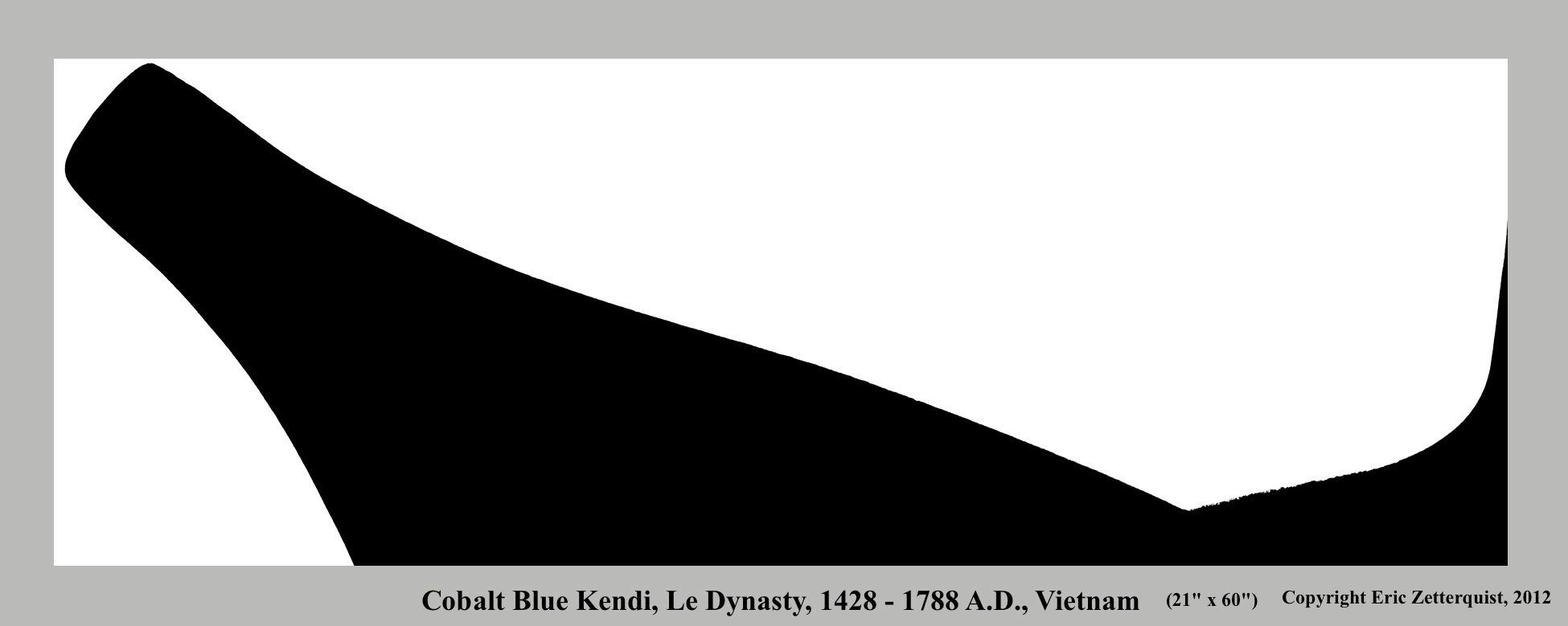 Cobalt Blue Kendi, Le Dynasty, 1428 - 1788 A.D., Vietnam (B)