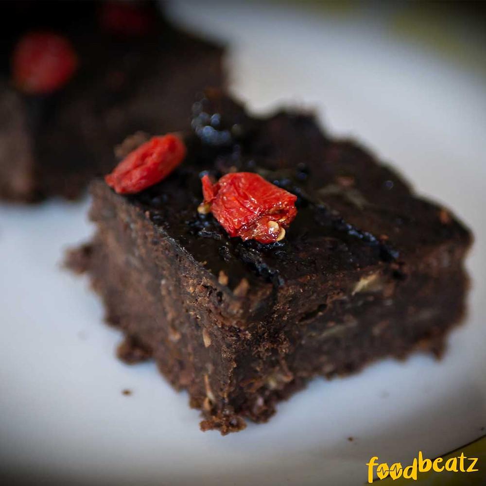 zuckerfreier Brownie, vegan