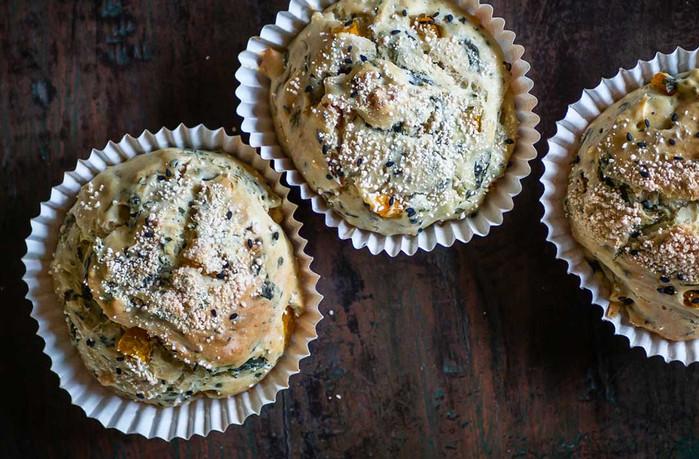 Rezept: Kürbis-Spinat-Muffins - vegan