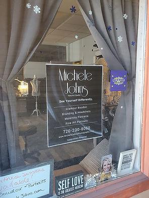 studio street window Michele Johns Photo