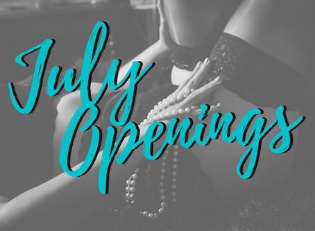 July Boudoir Openings