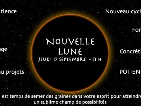 Demain, jeudi 17 septembre, c'est la Nouvelle Lune