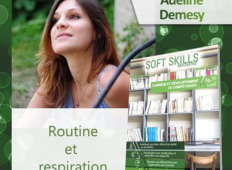 Article Routine et respiration dans Soft Skills Magazine