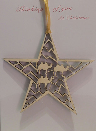 Card with Three Wize Camels Tree Decoration
