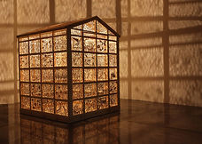 'Distillation of Experiences' Joey Richardson artist natural wood 128 panel filigree contemporary sculpture inspired by studio shed interior design