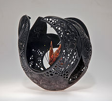 'wunya' 'Joey Richardson' artist turned carved pierced filigree airbrushed textured 'contemporary wood sculpture' 'interior design'