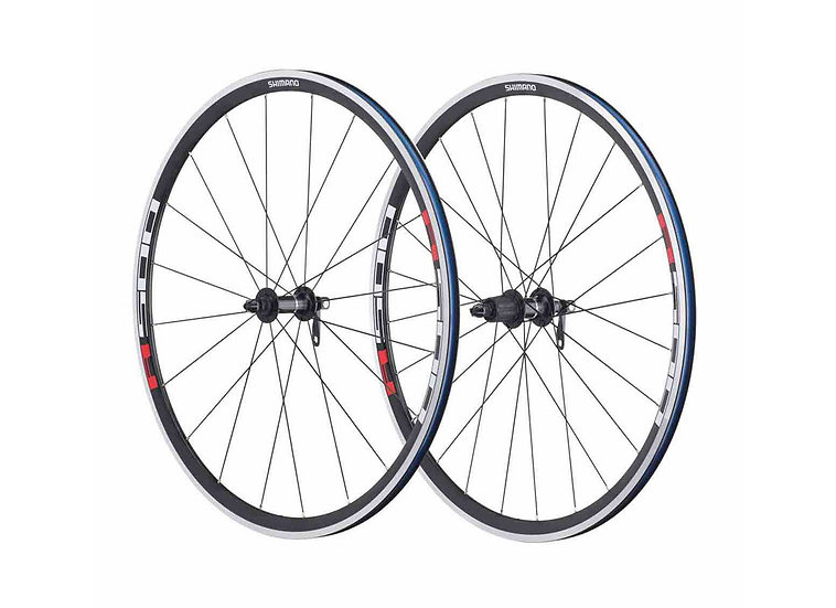 Shimano WHR501A 8-9-10 Spd Road Wheelset סט גלגלים